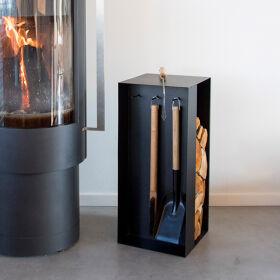 Fireside Companion Set with Log Store