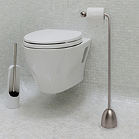 Nickel Toilet Roll Holder - Heron