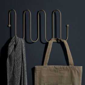 Large Curl Coat Rack - Grey