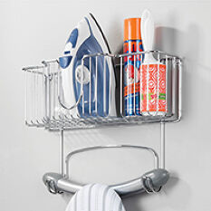 Iron & Ironing Board Store with Basket