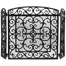 Cast Iron Firescreen - Black