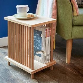 Oak Side Table with Storage