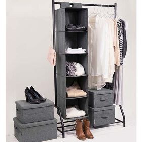 Hanging Clothes Organiser - Grey
