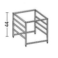 Elfa 4 Runner Drawer Frame - 54cm Deep