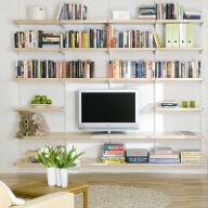Elfa Best Selling Solution - Living Room Shelving