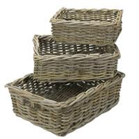 Large Buff Wicker Pantry Basket