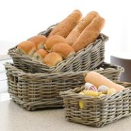 Medium Buff Wicker Pantry Basket