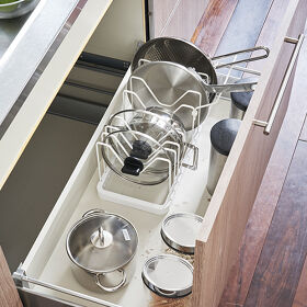Extendable Pan Lid and Frying Pan Organiser