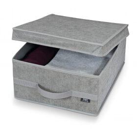 Fabric Storage Box - Stone Grey