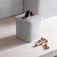 Pet Treat Tin with Leather Handle