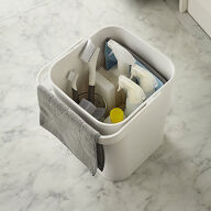 Lidded Cleaning Products Storage Bin