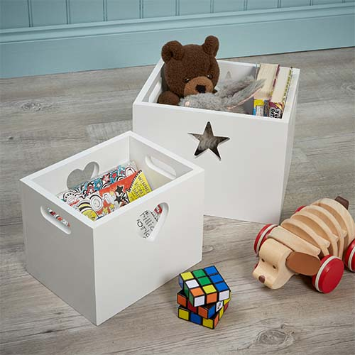 Set of 2 Kids Storage Boxes