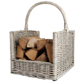 Open Log Carrier Basket - Willow