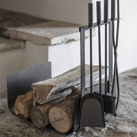 Fireside Log Holder & Companion Set - Stanton