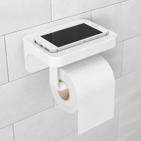 Sure-Lock Toilet Roll Holder & Shelf - Flex