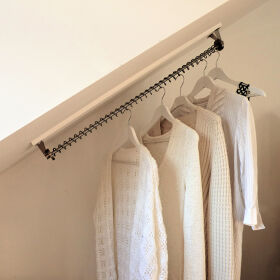 Any Angle Clothes Hanging Rail - Zebedee 50cm