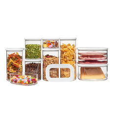 9 x Clear Kitchen Storage Canisters