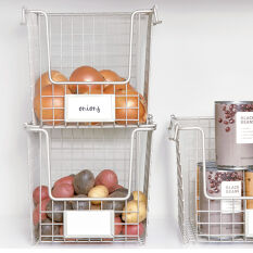 Stackable Pantry Basket with Label Holder - Classico