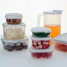 Set of 21 Food Storage Containers With Lids