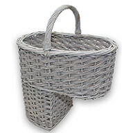Willow Stair Basket - Grey