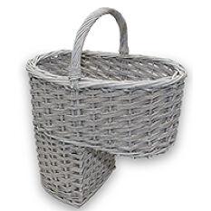 Willow Stair Basket - Grey