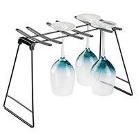 Sink Side Wine Glass Drying Rack - Black