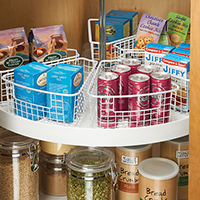 Wedge Shaped Storage Basket