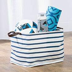 Handled Canvas Storage Bag - Riley