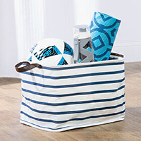 Handled Canvas Storage Bag - Riley