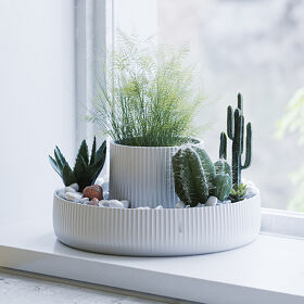 Ceramic Indoor Planter - Fountain