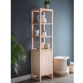 Tall Wooden Bathroom Cabinet - Southbourne