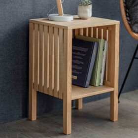 Wooden Side Table - Linear