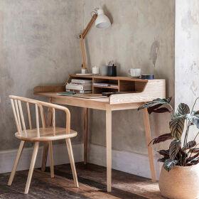 Wooden Desk with Storage - Ashwicke