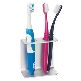 Self Adhesive Dual Toothbrush Holder - Metro