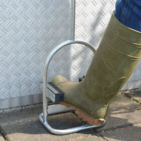 Galvanised Shoe/Boot Scraper & Brush with Handle