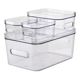 Stacking Lidded Fridge Storage Box Bundle
