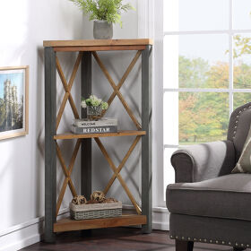 Corner Bookcase Small - Urban Elegance