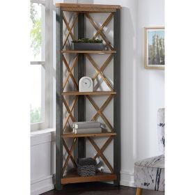 Corner Bookcase Large - Urban Elegance