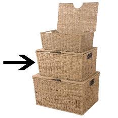 Lidded Seagrass Box - Medium