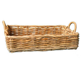 Rattan Pantry Basket with Handles