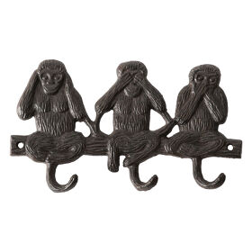 Cast Iron Coat Hook - Monkey