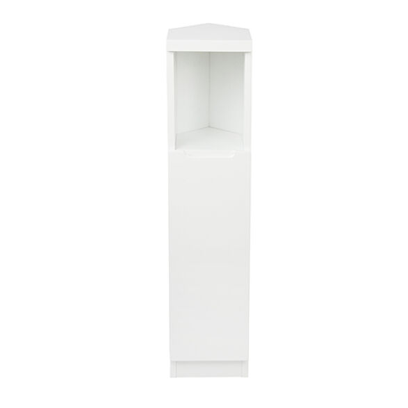 Corner Cabinet High Gloss Compact Bathroom White Store